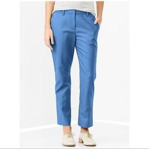 NWT: GAP, Tailored crop pants , blue, size 2R.